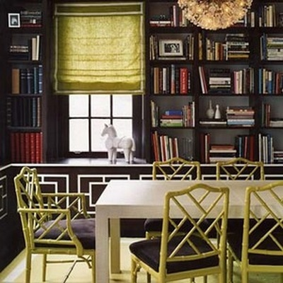A Library In The Dining Room Amy Hirschamy Hirsch