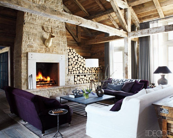 Ski lodge design amy hirschamy hirsch for Amy bradford elle decoration