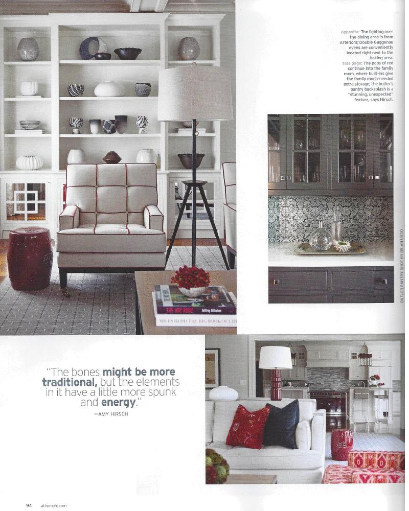 Seeing Red Kitchen Feature In At Home Magazine Amy Hirschamy Hirsch