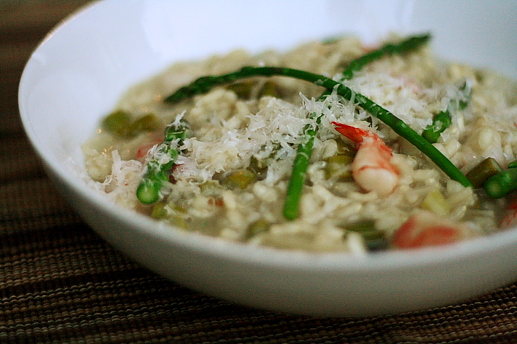 risotto with shrimp and asparagus 2