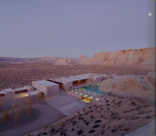 Ariel view of Amangiri Resort.