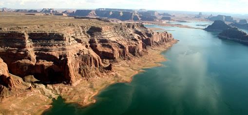 Utah's canyon country, accessible through plane tours.
