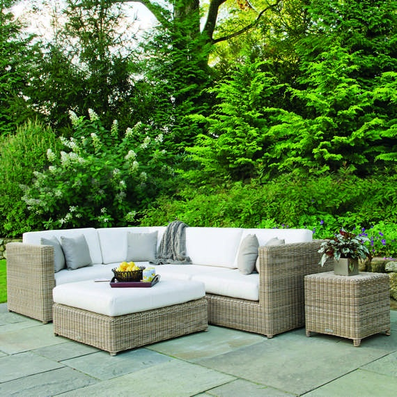 Sag Harbor collection from Kingsley Bate, wicker over an aluminum frame.