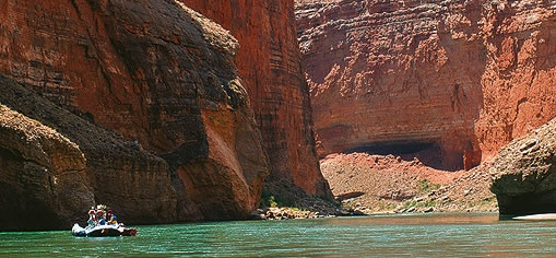 Nearby Lake Powell can be explored by boat.