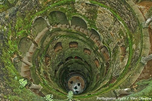 The Initiation Well at Quinta da Regaleira, Portugal.