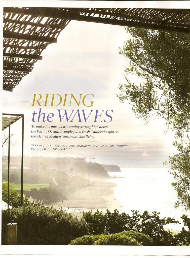 Elle Decor Riding the Waves 1
