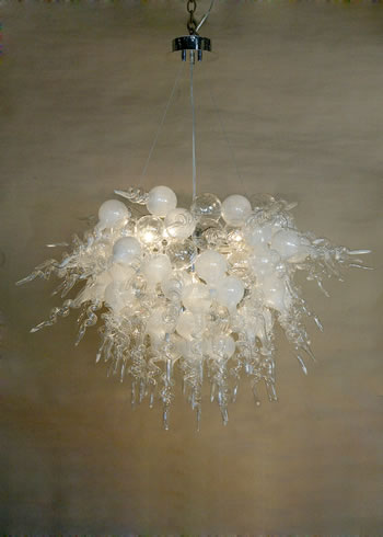 White bubble and Tail Estancia Chandelier