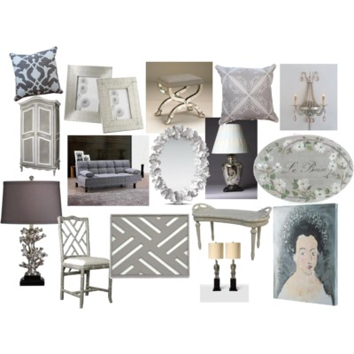 Gray home décor from Well Appointed House