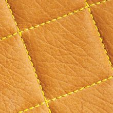 Quilted leather wall panels from Spinneybeck.