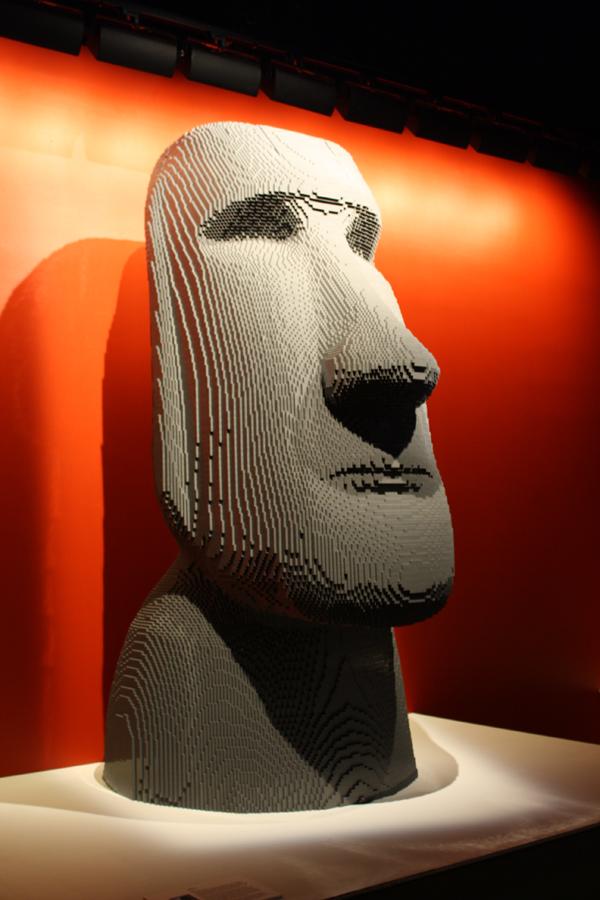 Easter Island Moai, life size.