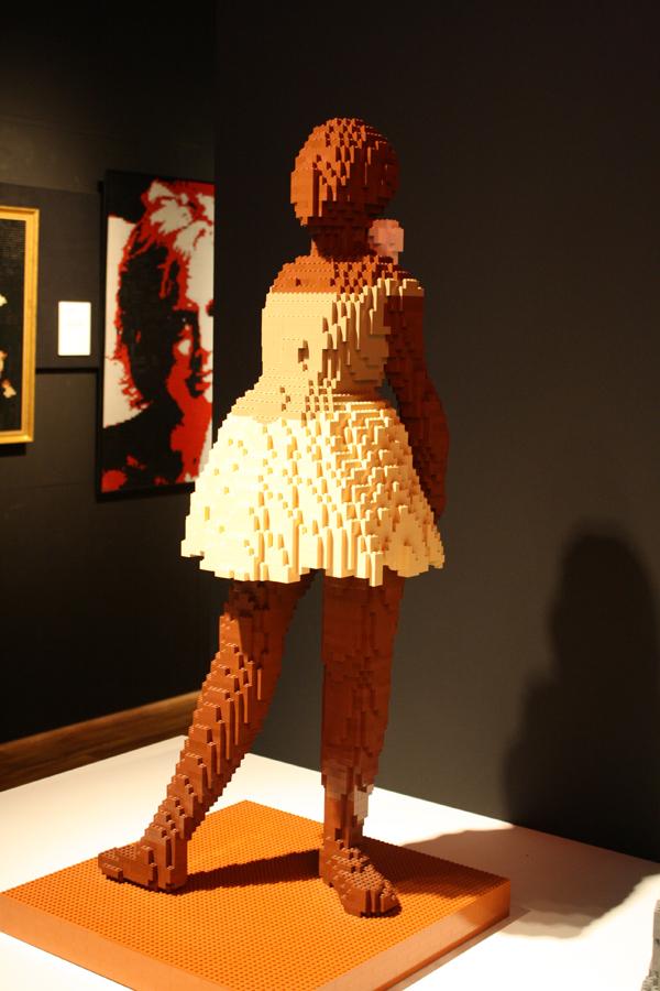 Dancer by Degas as a Lego sculpture.