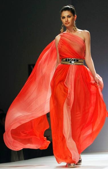 Design by Preeti Chandra at India Fashion Week in 2012.