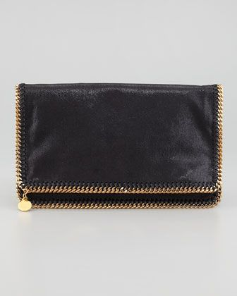 Falabella Fold Over Clutch, classic and appropriate for day or night.