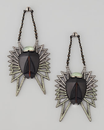 Scarab Drop Earrings by Eddie Borgo -- add something fun to your look.