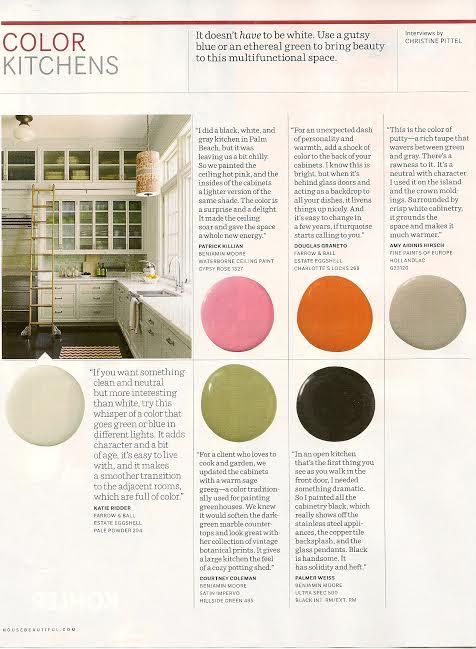 Christine Pittel kitchen color in house beautiful magazine | amy hirschamy hirsch