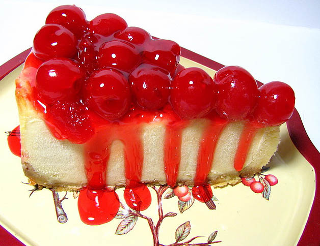 Topped with cherries. Image via Ken's Oven