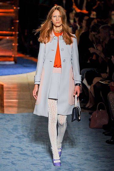 Miu Miu:  I love the color combination of this retro look.