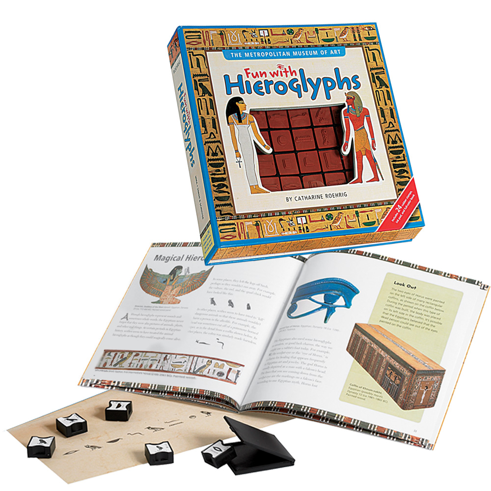 Fun with Hieroglyphs:  Many kids are fascinated by ancient Egyptian writing.