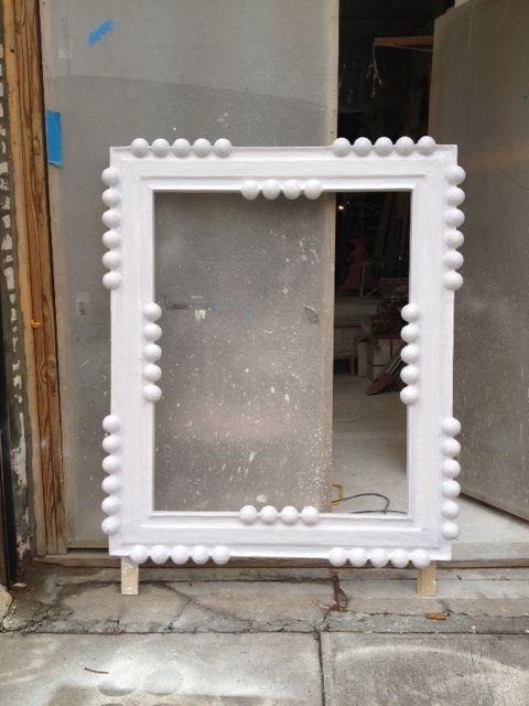 A custom mirror frame.