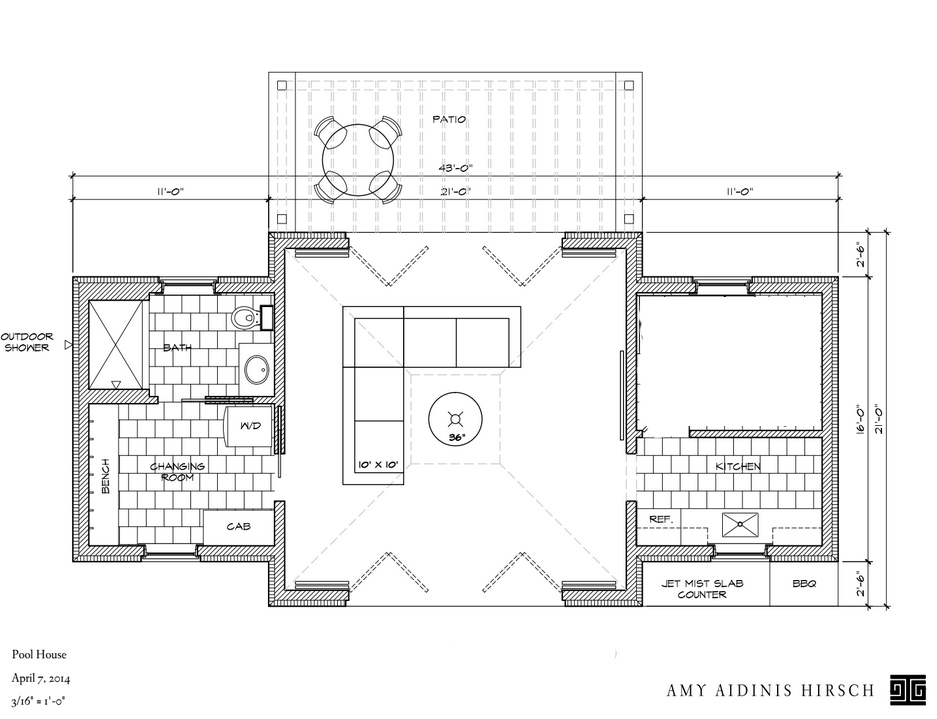 In progress pool house amy hirschamy hirsch Pool house floor plans free