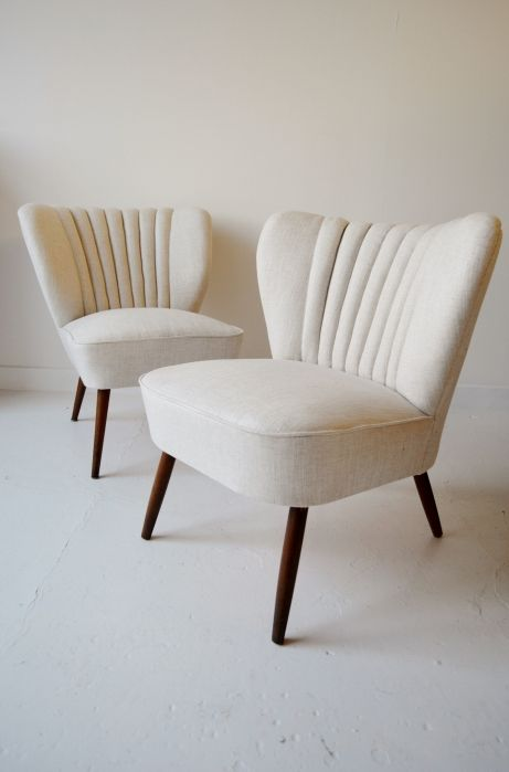 Pair of 1950s French cocktail chairs from Osi Modern.