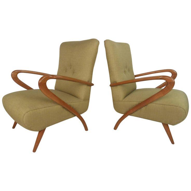 Paolo Buffa Style Armchairs