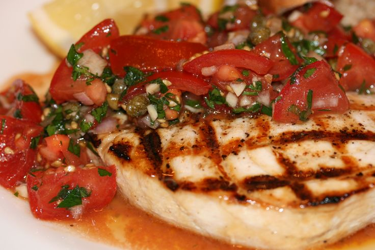 Swordfish Burgers With Lemon Vinaigrette Recipe — Dishmaps