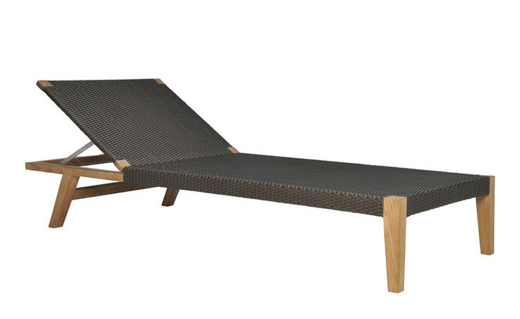 Quinta Teak and Woven Chaise Lounge