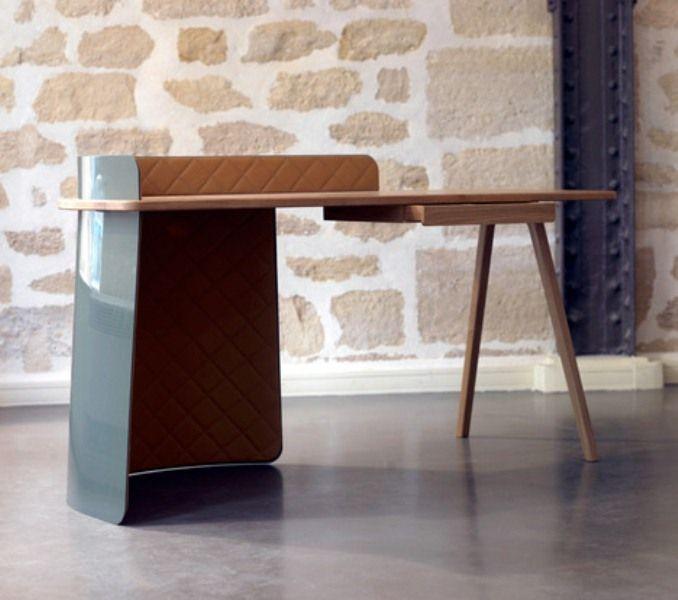 metal wood leather boss desk