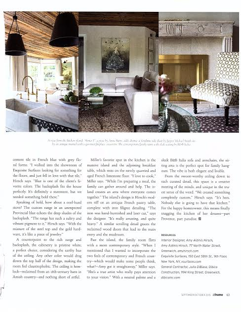 Athome in fairfield county french twist amy hirsch for Fairfield county interior designers