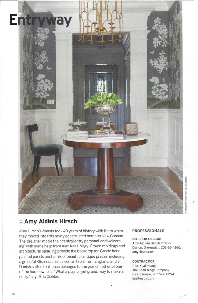 Amy Aidinis Hirsch Greenwich CT Interior Design
