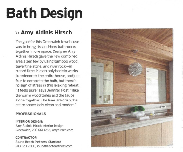 Amy Aidinis Hirsch Interior Design Greenwich CT