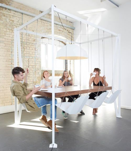 Swing table designed by Christopher Duffy