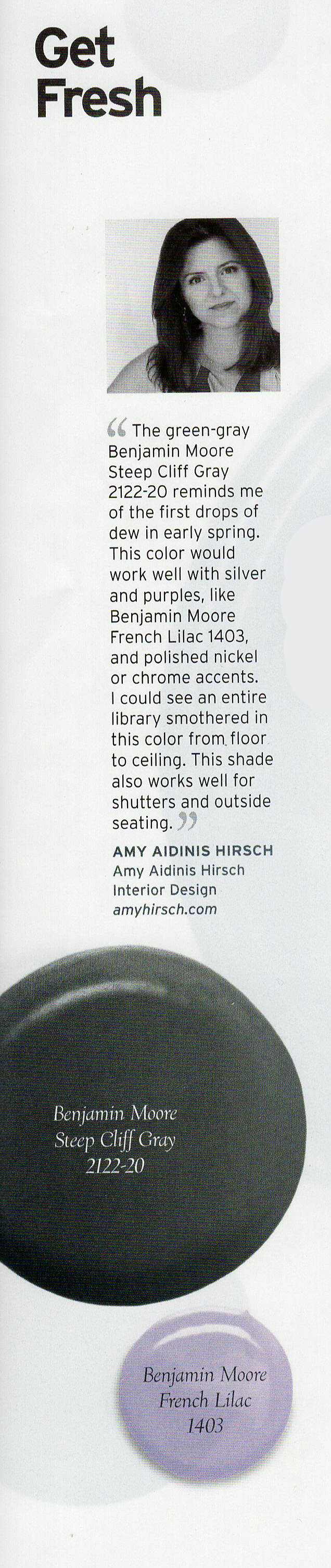 Amy Aidinis Hirsch At Home Color