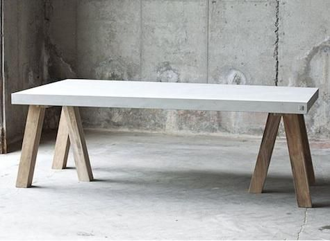 Muubs Rockefeller Teack Fiber Concrete table