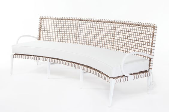 Walters Wicker Omega Curved Sofa