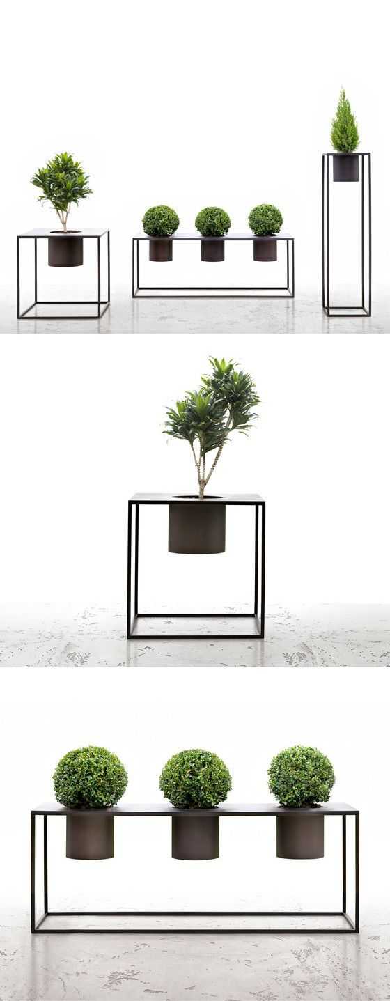 aldo cibic and cristiana urban riviera plant stands
