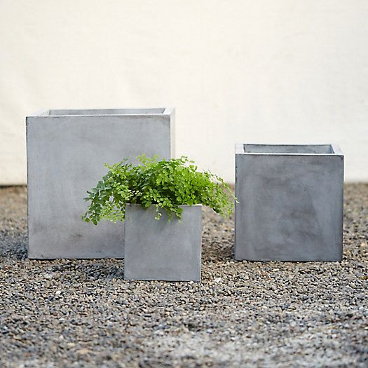 cubist fiber planter from terrain